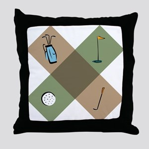 Golf Icon Throw Pillow